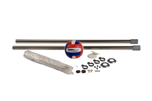 """Pool Volleyball - Stainless DeckVolly 2 3/8"""" - Deck Mounted"""