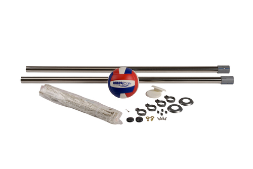 "Pool Volleyball - Stainless DeckVolly 2 3/8"" - Deck Mounted"