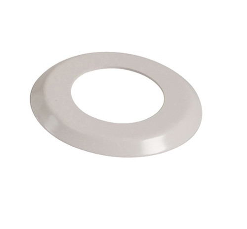 "1.90"" White Escutcheon Ring (6"" O.D.) - FR1906 - Pool Basketball & Volley Ball Parts"