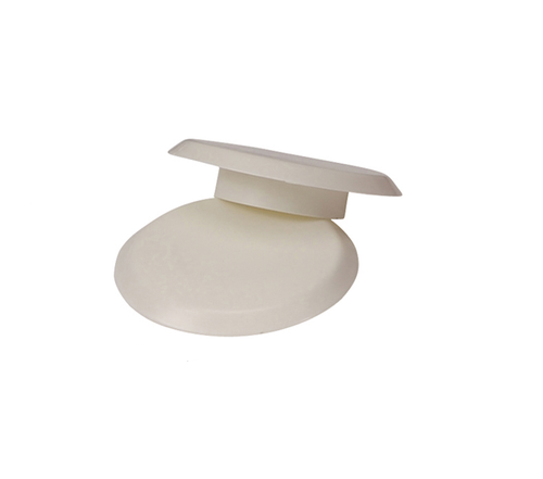 "2 3/8"" White Finishing Cap for Anchor  (6"" O.D) - Anchor 9 - Pool Basketball & Volley Ball Parts"