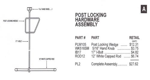 Slam - Post Locking Hardware Assembly - PL2