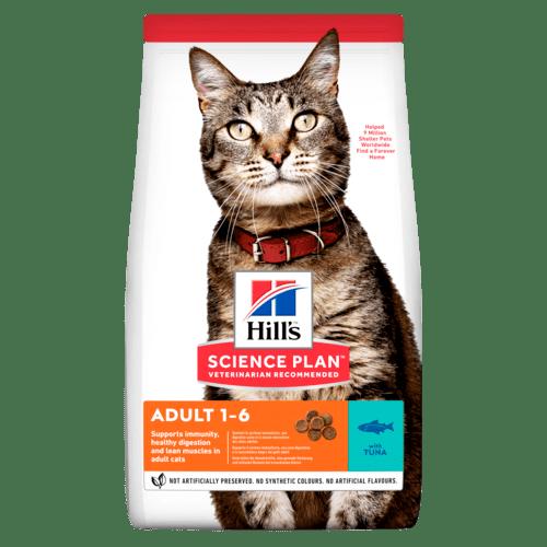 Adult torrfoder med tonfisk för katt