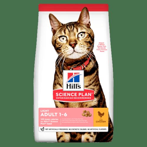 Adult Light torrfoder med kyckling för katt