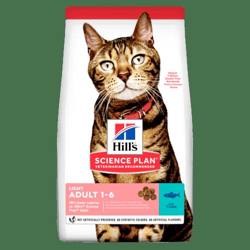 Adult Light torrfoder med tonfisk för katt