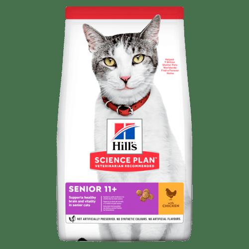Senior torrfoder med kyckling för katt