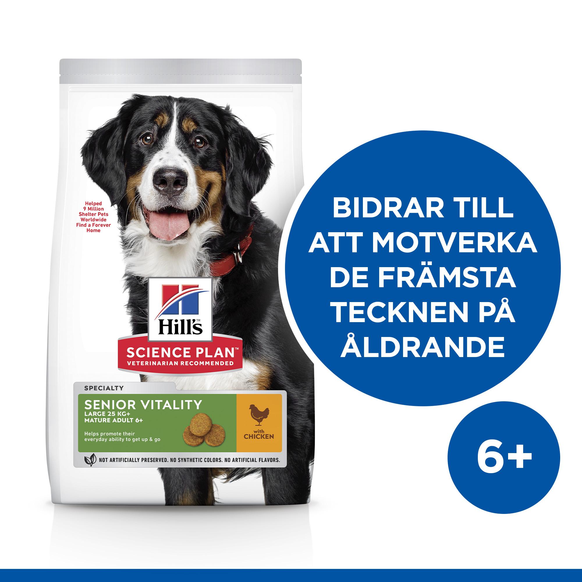 Senior Vitality Large Breed Mature Adult 6+ hundfoder med kyckling & ris
