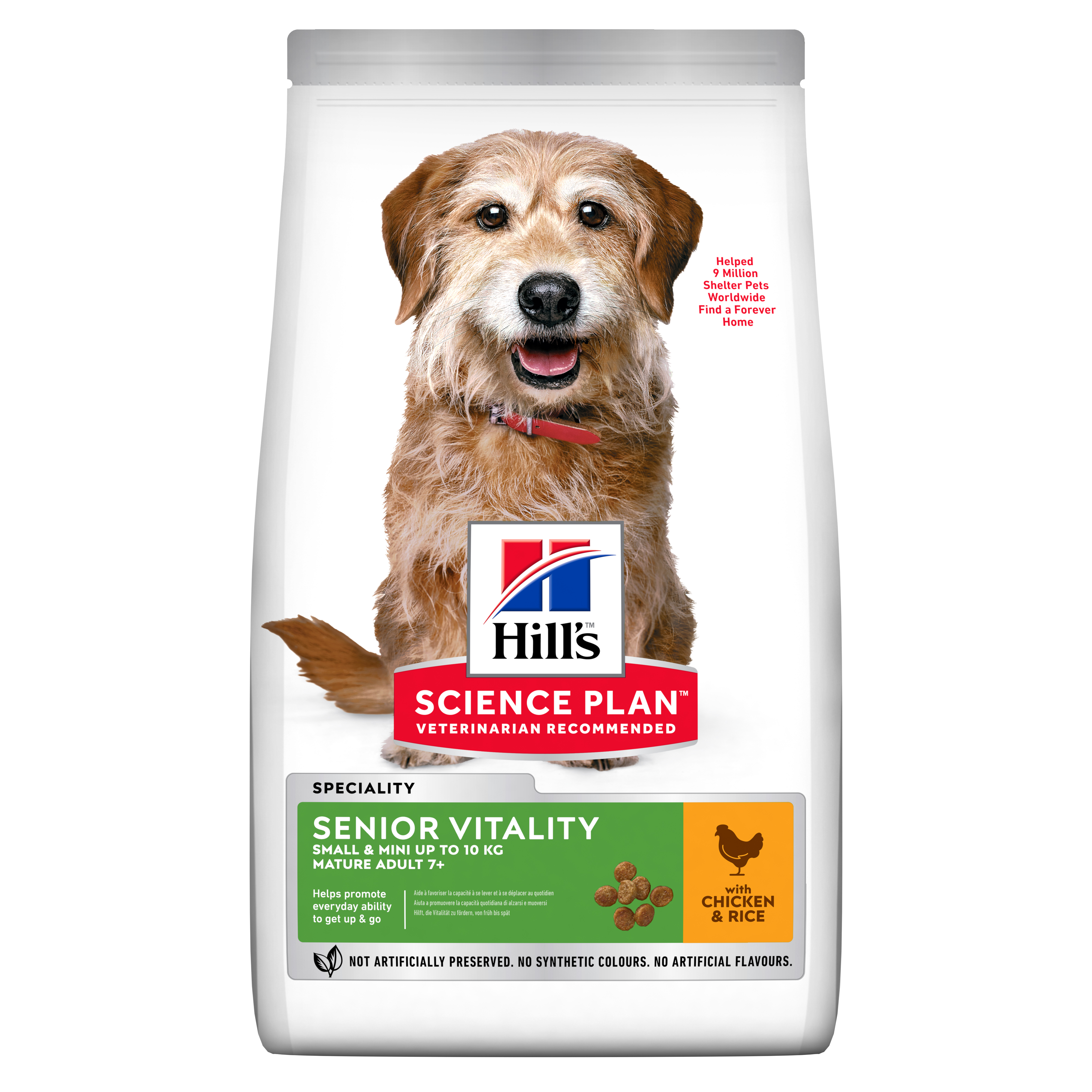 Senior Vitality Small & Mini Mature Adult 7+ hundfoder med kyckling & ris