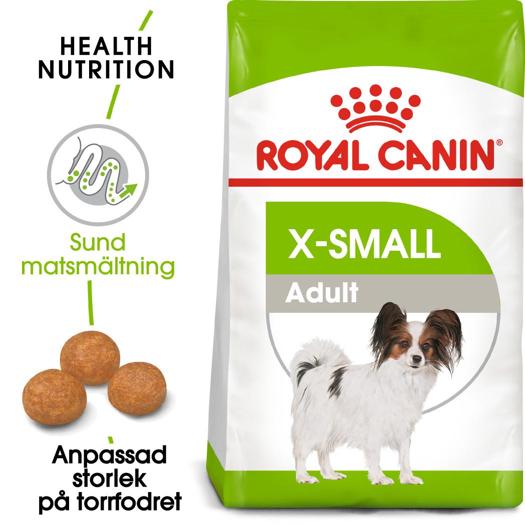 X-Small Adult Torrfoder för hund