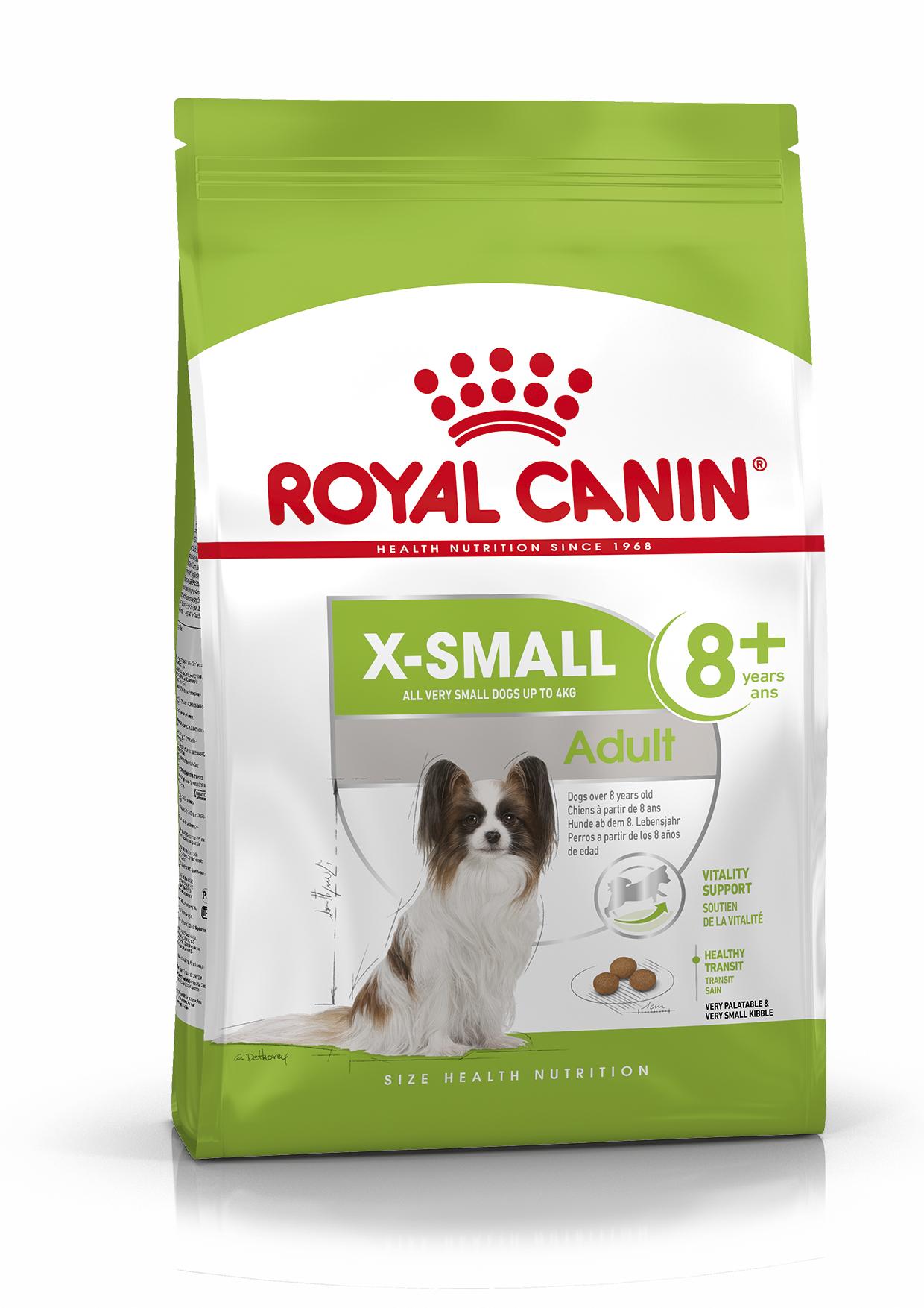 X-Small 8+ Adult Torrfoder för hund