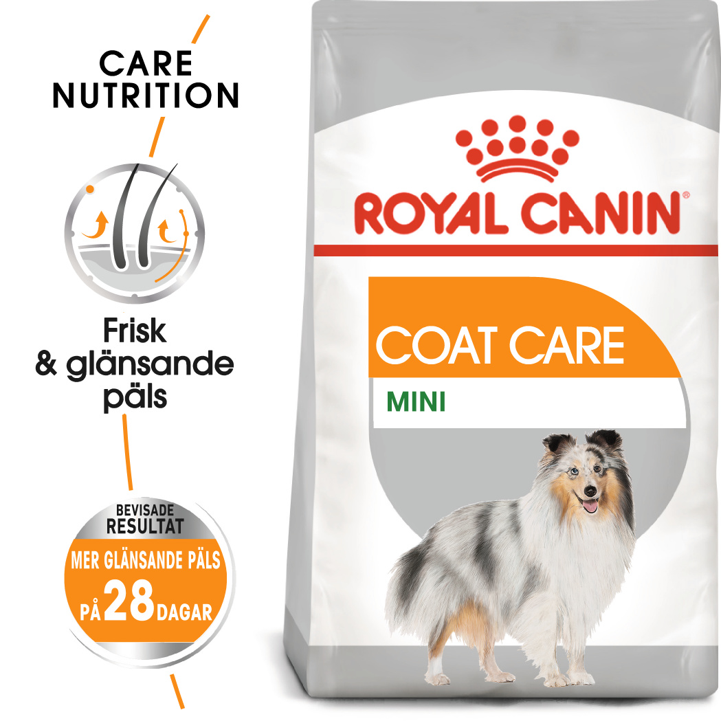 Coat Care Adult Mini Torrfoder för hund