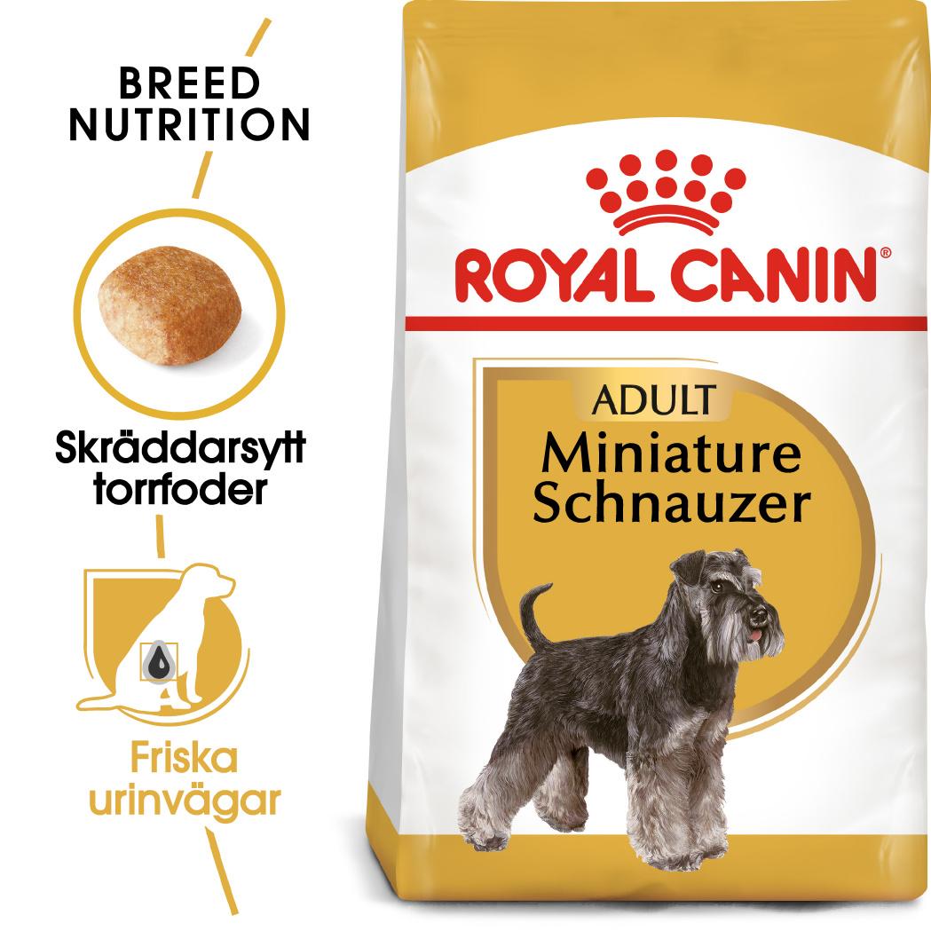 Miniature Schnauzer Adult Torrfoder för hund