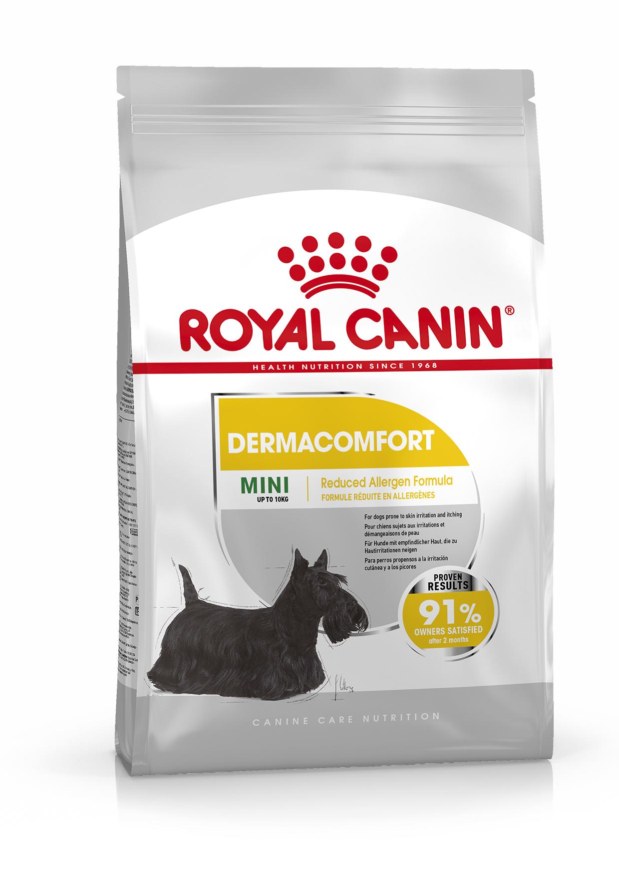 Dermacomfort Adult Mini Torrfoder för hund