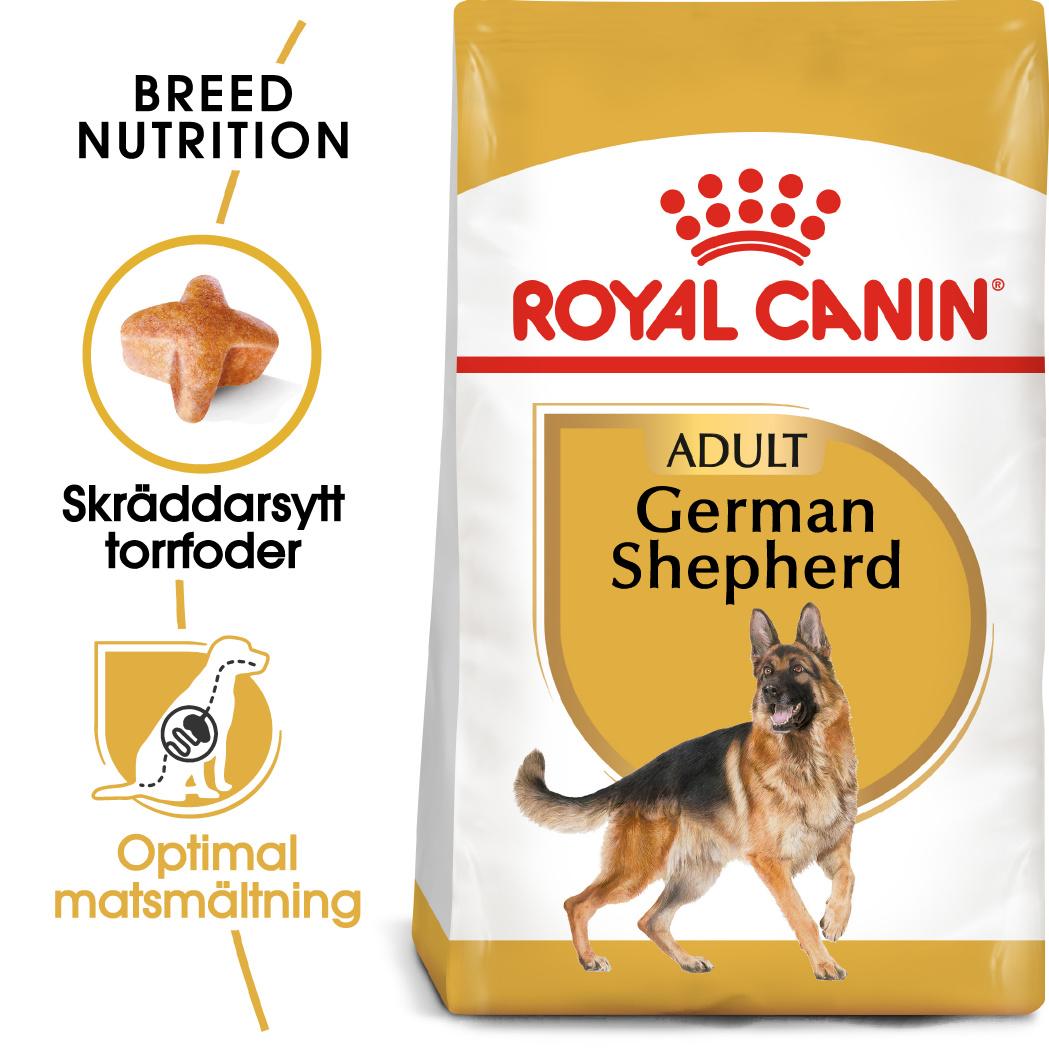 German Shepherd Adult Torrfoder för hund