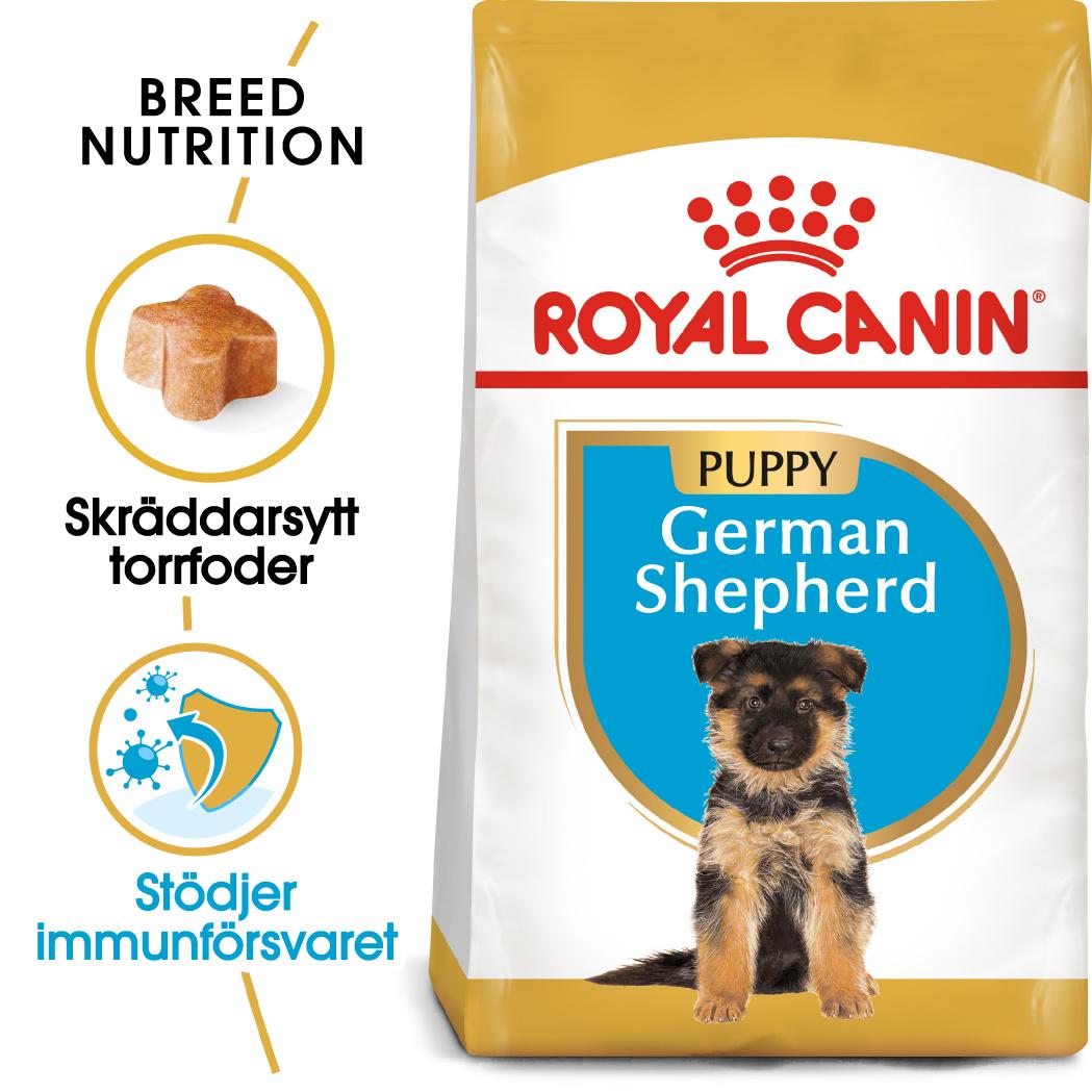 German Shepherd Puppy Torrfoder för hund