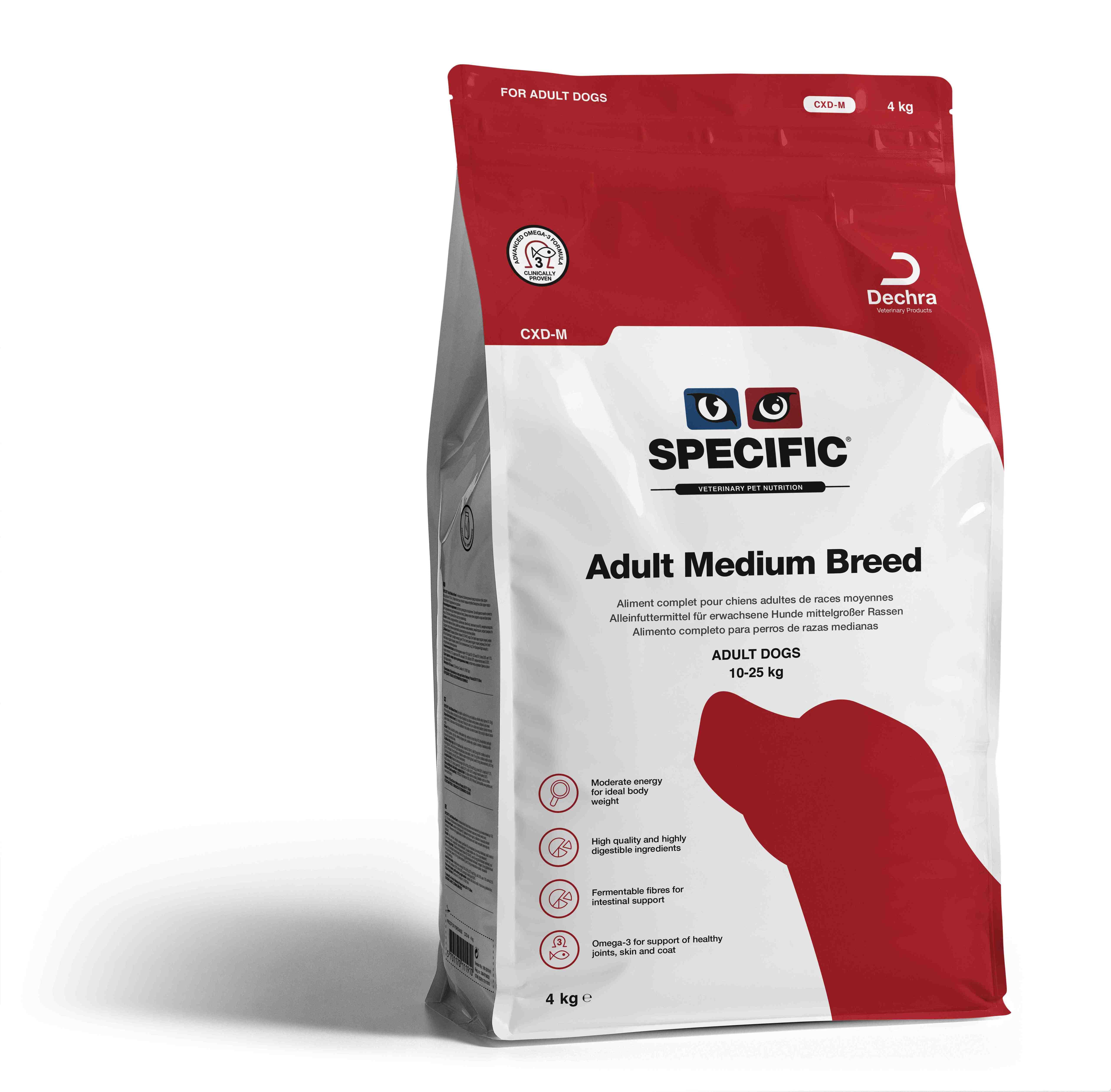 Adult Medium Breed CXD-M - 4 kg