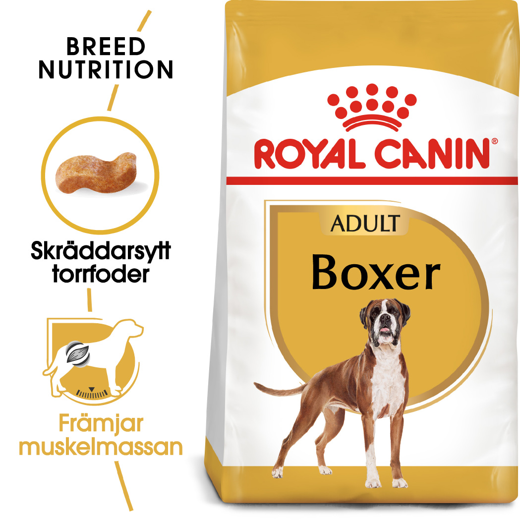 Boxer Adult Torrfoder för hund