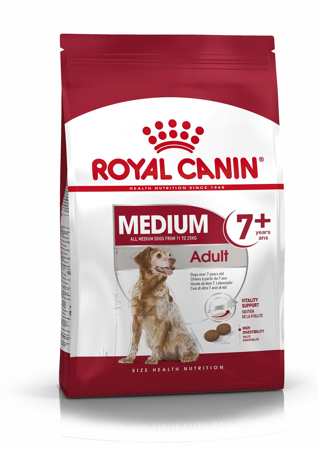 Medium 7+ Adult Torrfoder för hund