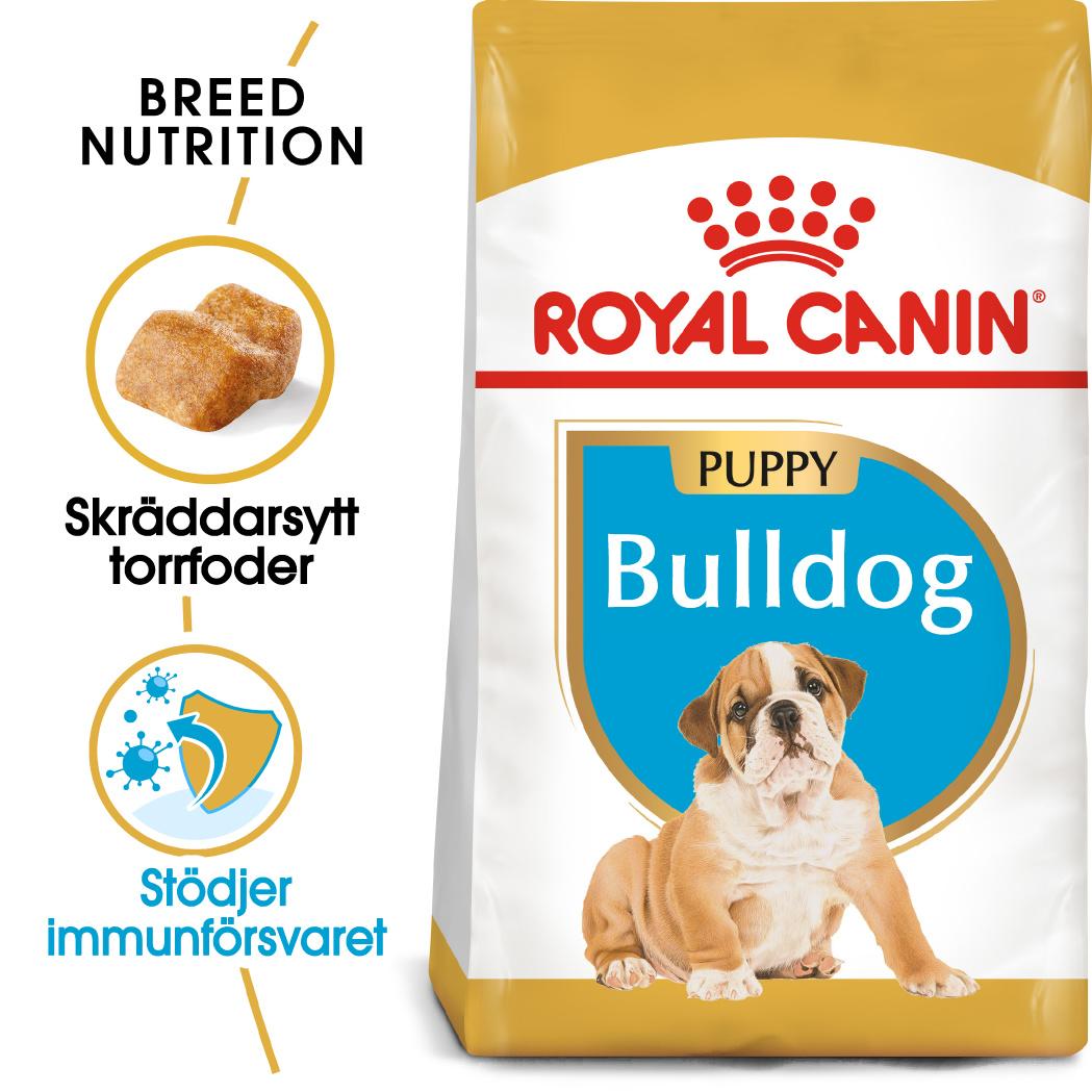 Bulldog Junior Torrfoder för hundvalp