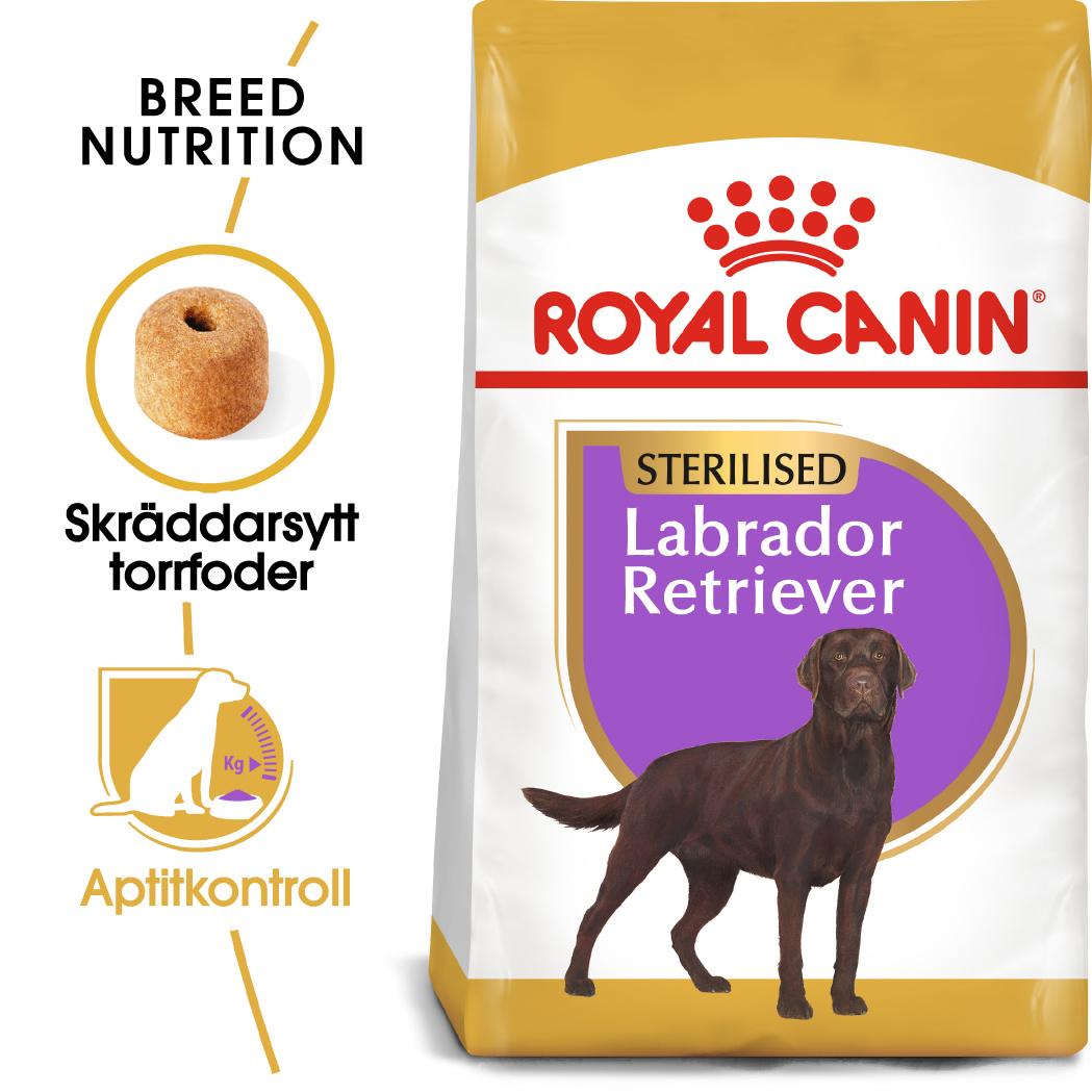 Labrador Retriever Sterilised Adult Torrfoder för hund