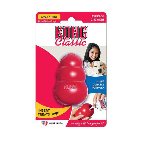 Kong Classic Röd Gummileksak - S