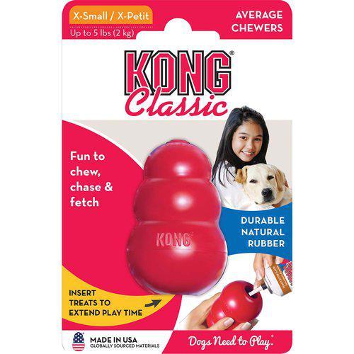 Kong Classic Röd Gummileksak - XS