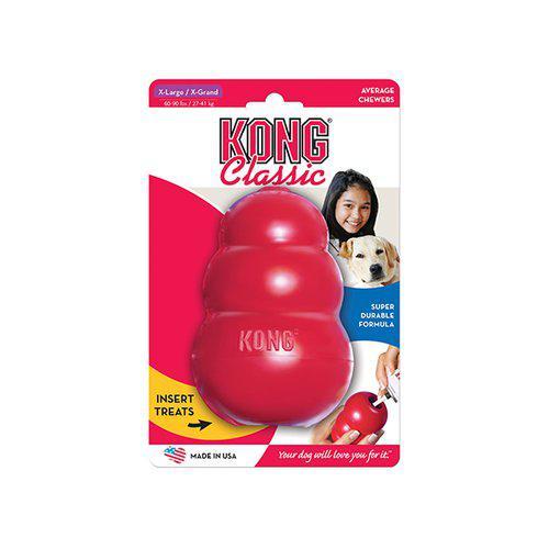 Kong Classic Röd Gummileksak - XL