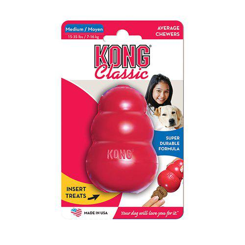 Kong Classic Röd Gummileksak - M