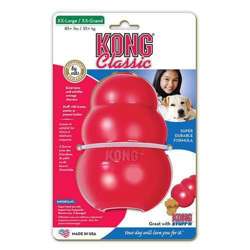 Kong Classic Röd Gummileksak - XXL