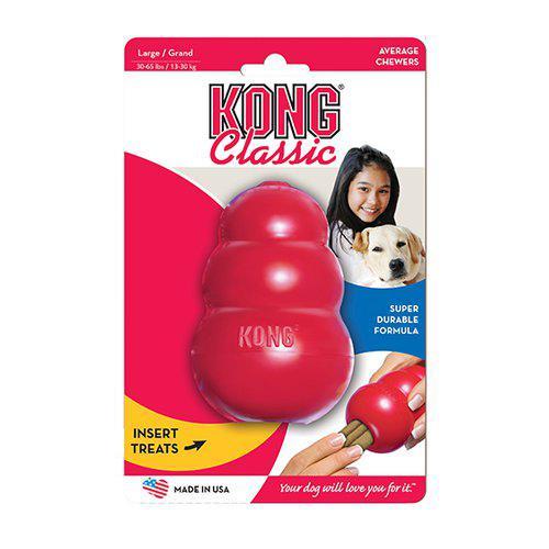 Kong Classic Röd Gummileksak - L