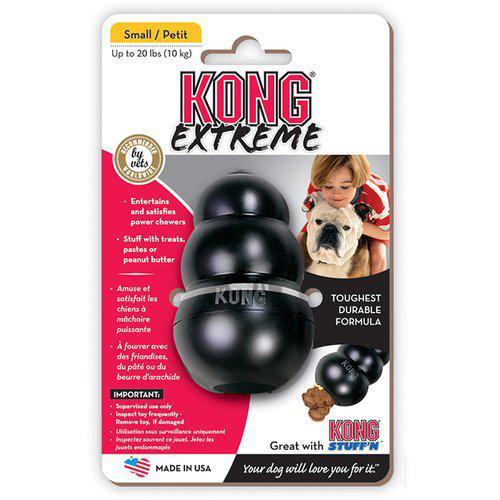 Kong Extreme Svart Gummileksak - S