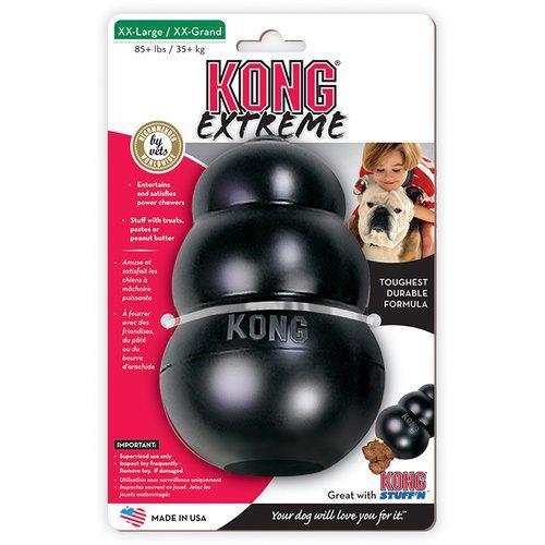Kong Extreme Svart Gummileksak - XXL