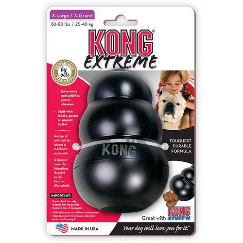 Kong Extreme Svart Gummileksak - XL