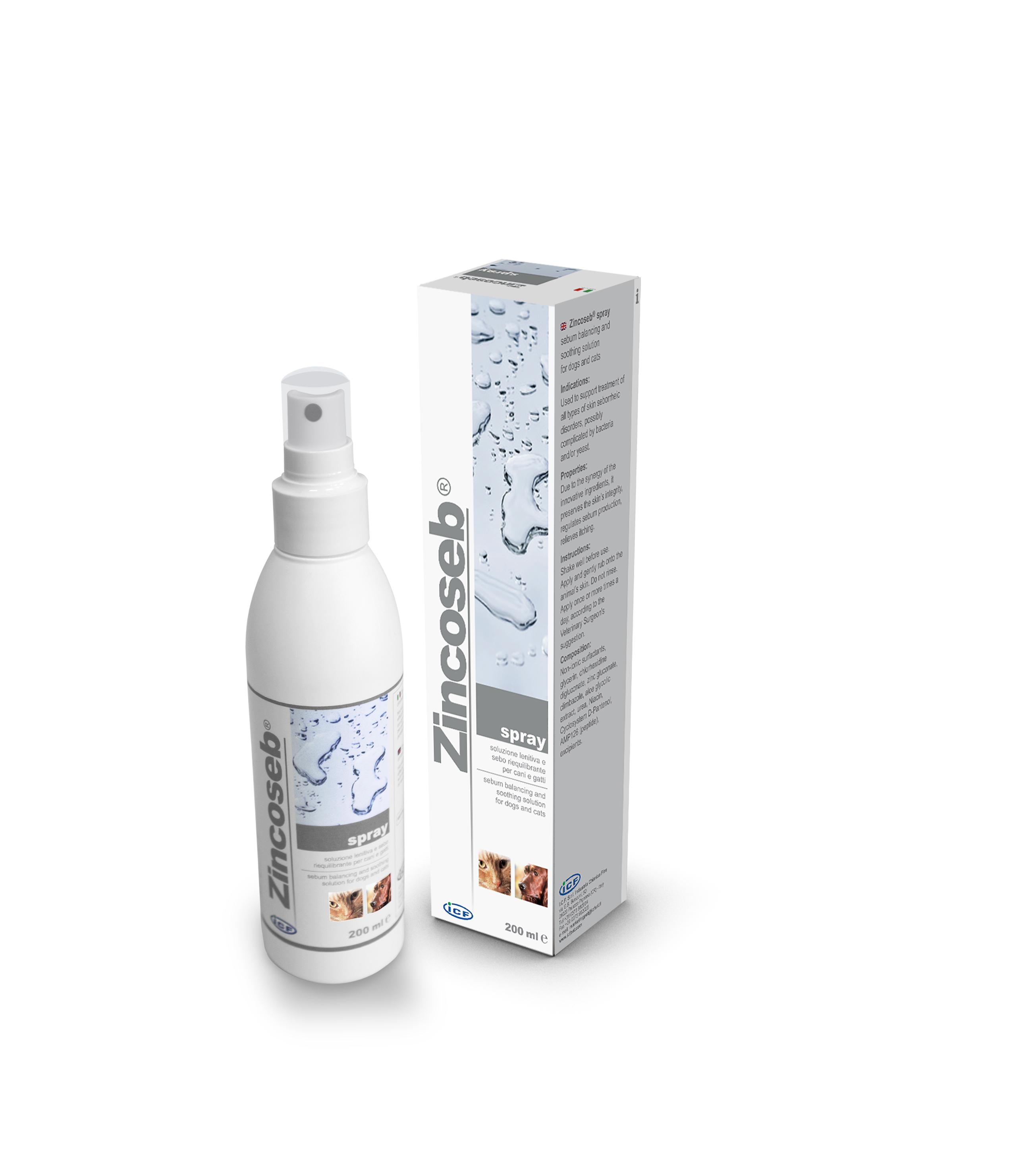 Zincoseb Spray för fet och mjällig hud