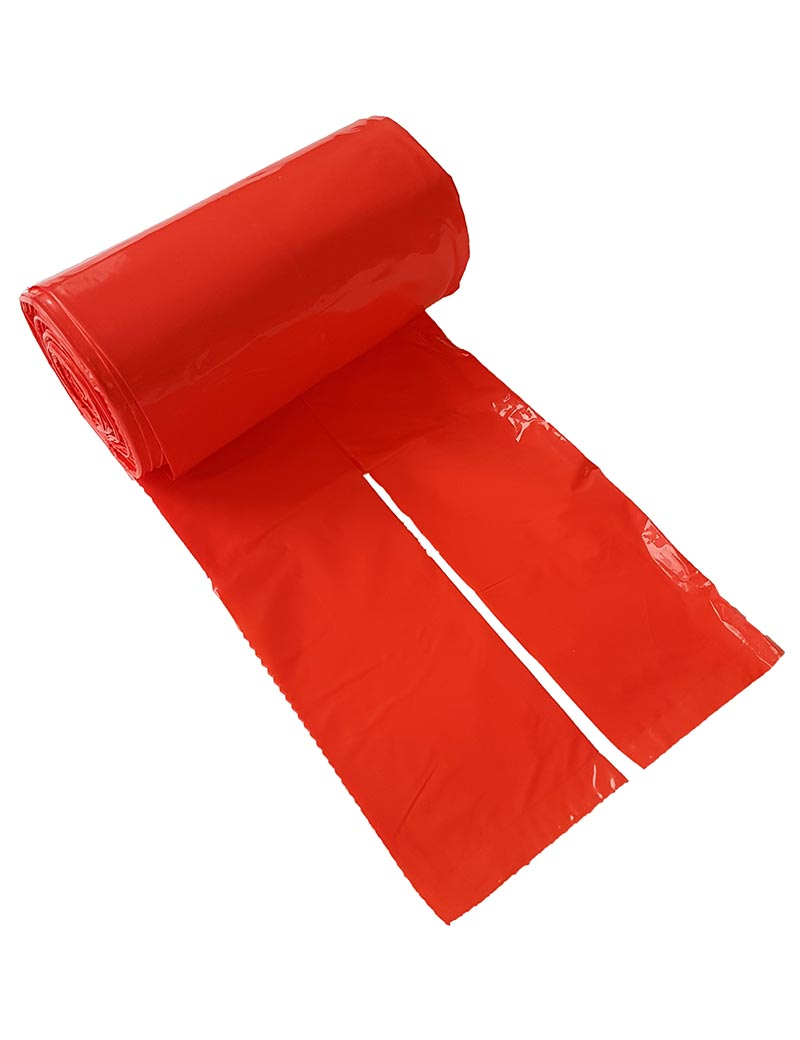 Bajspåsar med knythandtag 50 st - Röd