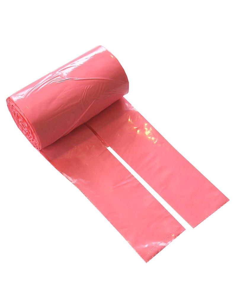 Bajspåsar med knythandtag 50 st - Rosa