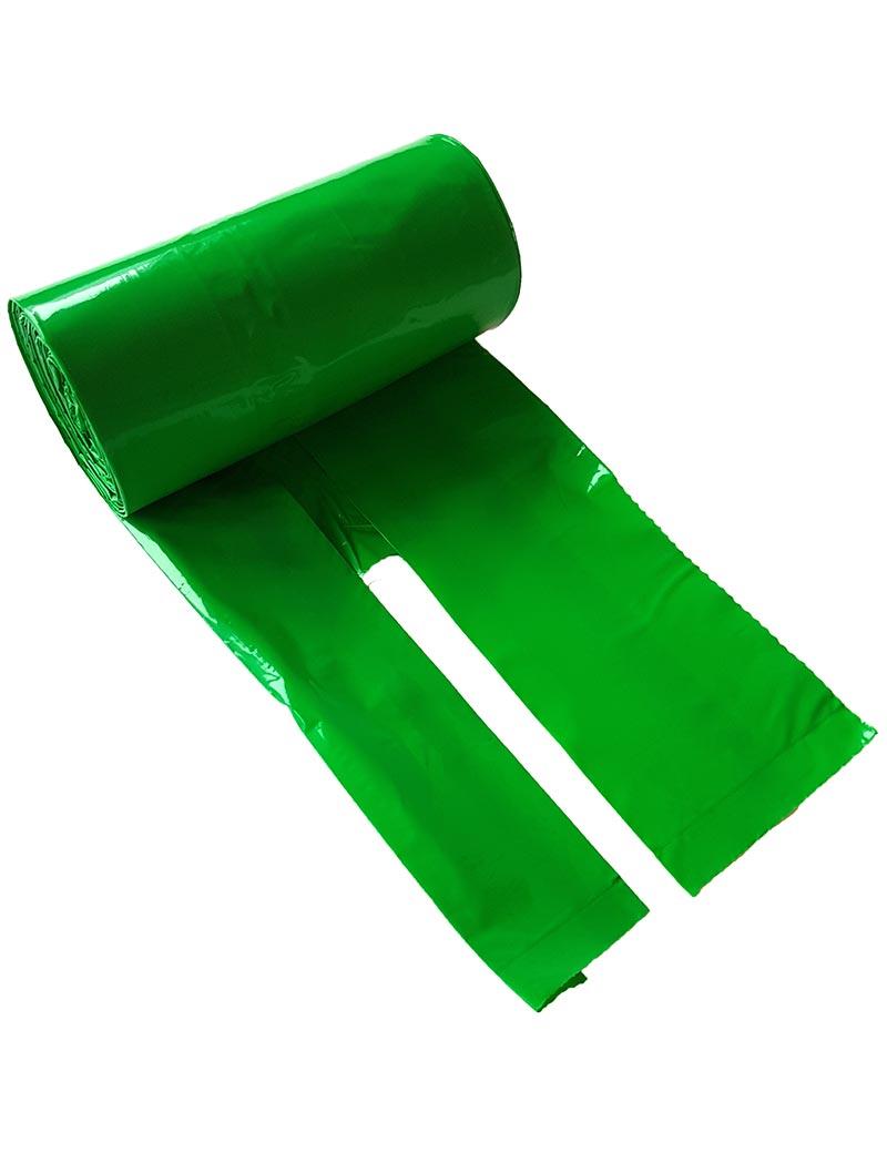 Bajspåsar med knythandtag 50 st - Grön