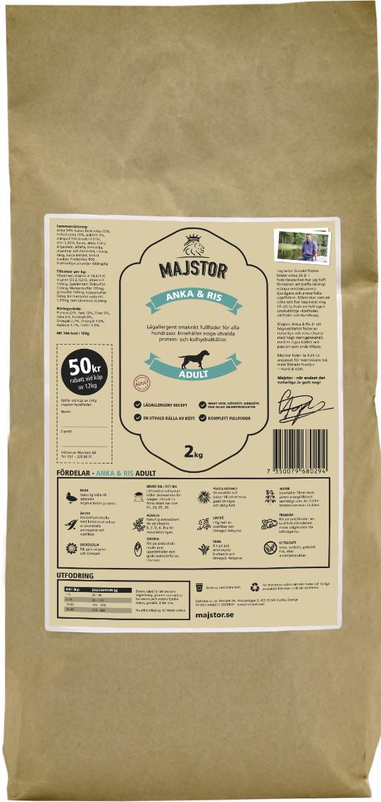Anka & Ris Adult Hundfoder - 2 kg