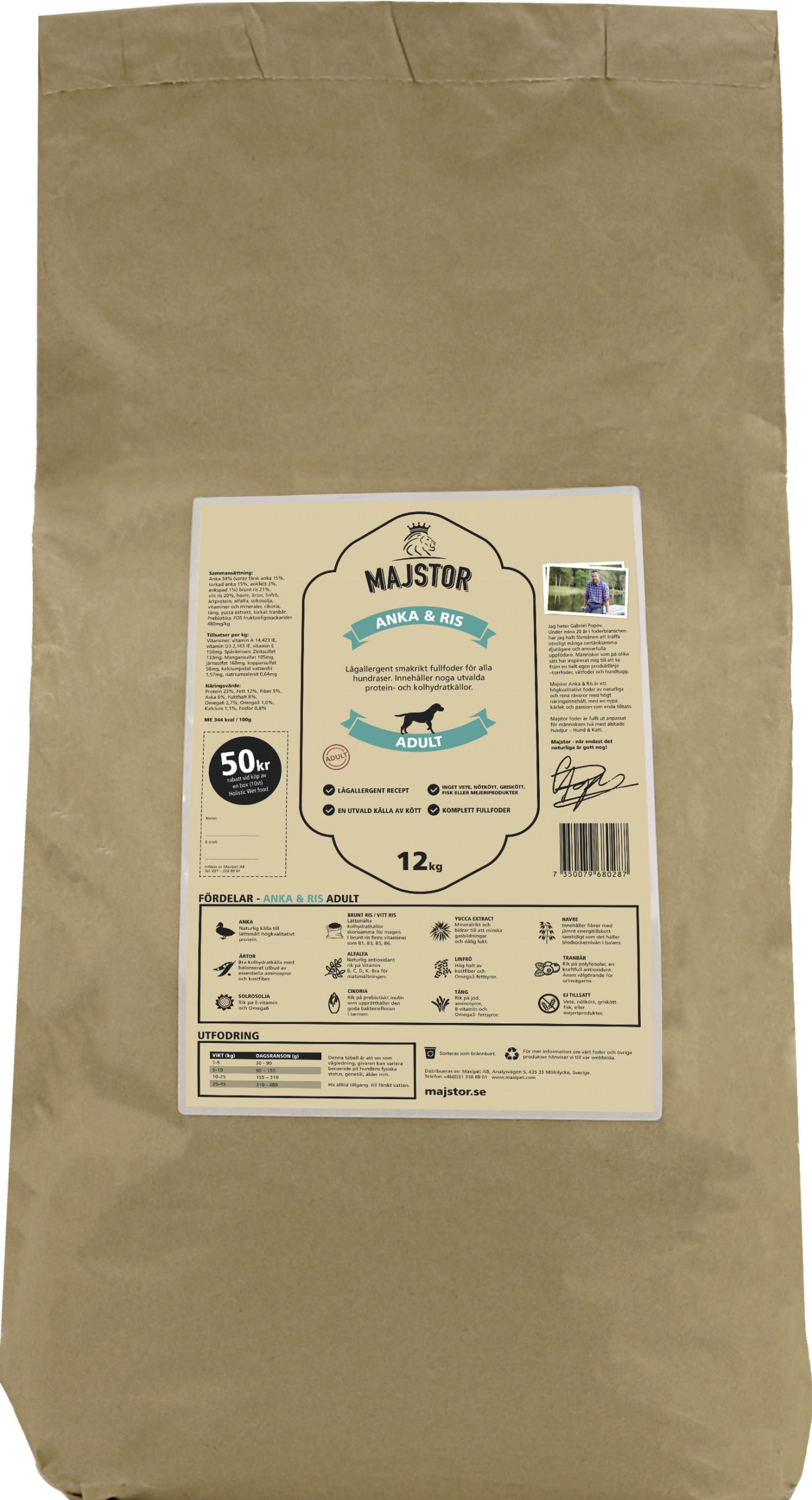 Anka & Ris Adult Hundfoder - 12 kg