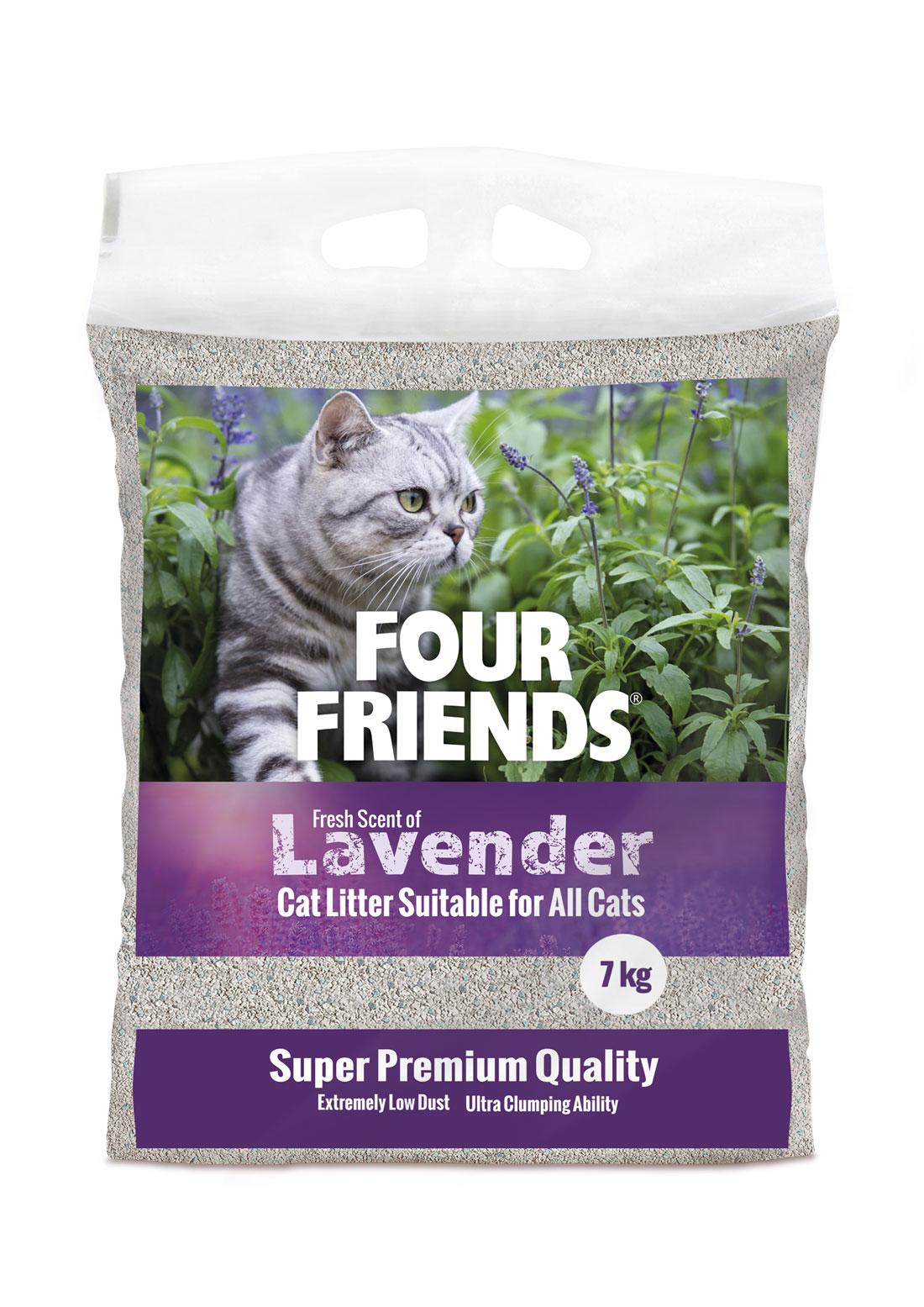 Lavender kattsand - 7 kg
