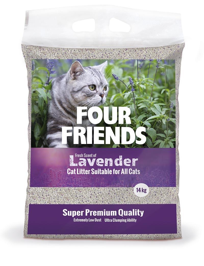 Lavender kattsand - 14 kg