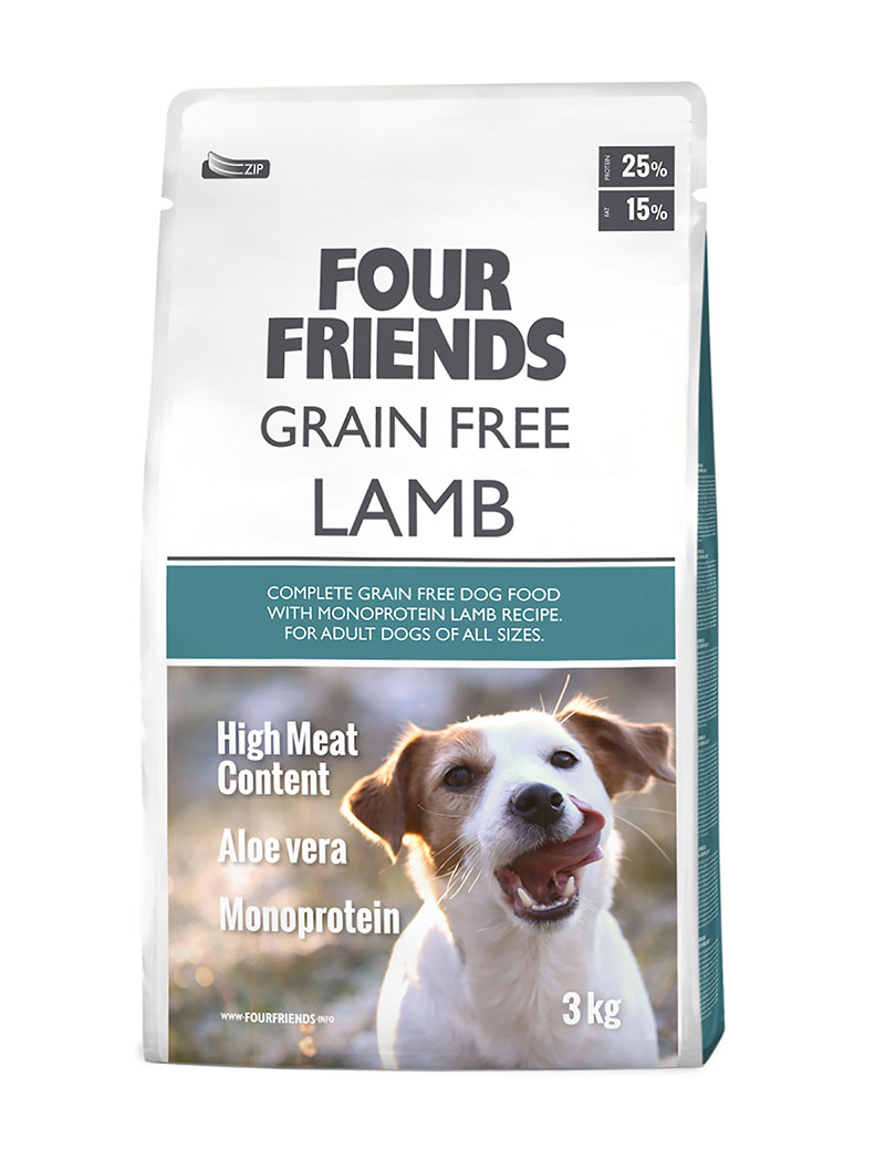 Grain Free Lamb Hundfoder - 3 kg