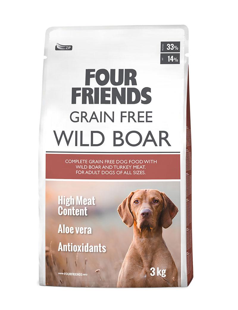 Grain Free Wild Boar Hundfoder - 3 kg