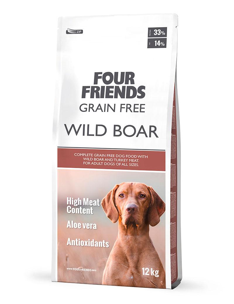 Grain Free Wild Boar Hundfoder - 12 kg