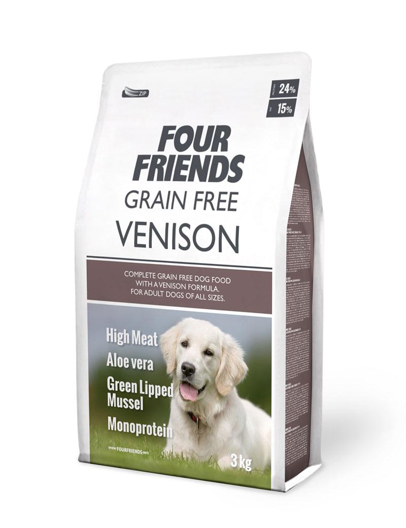 Grain Free Venison Hundfoder - 3 kg