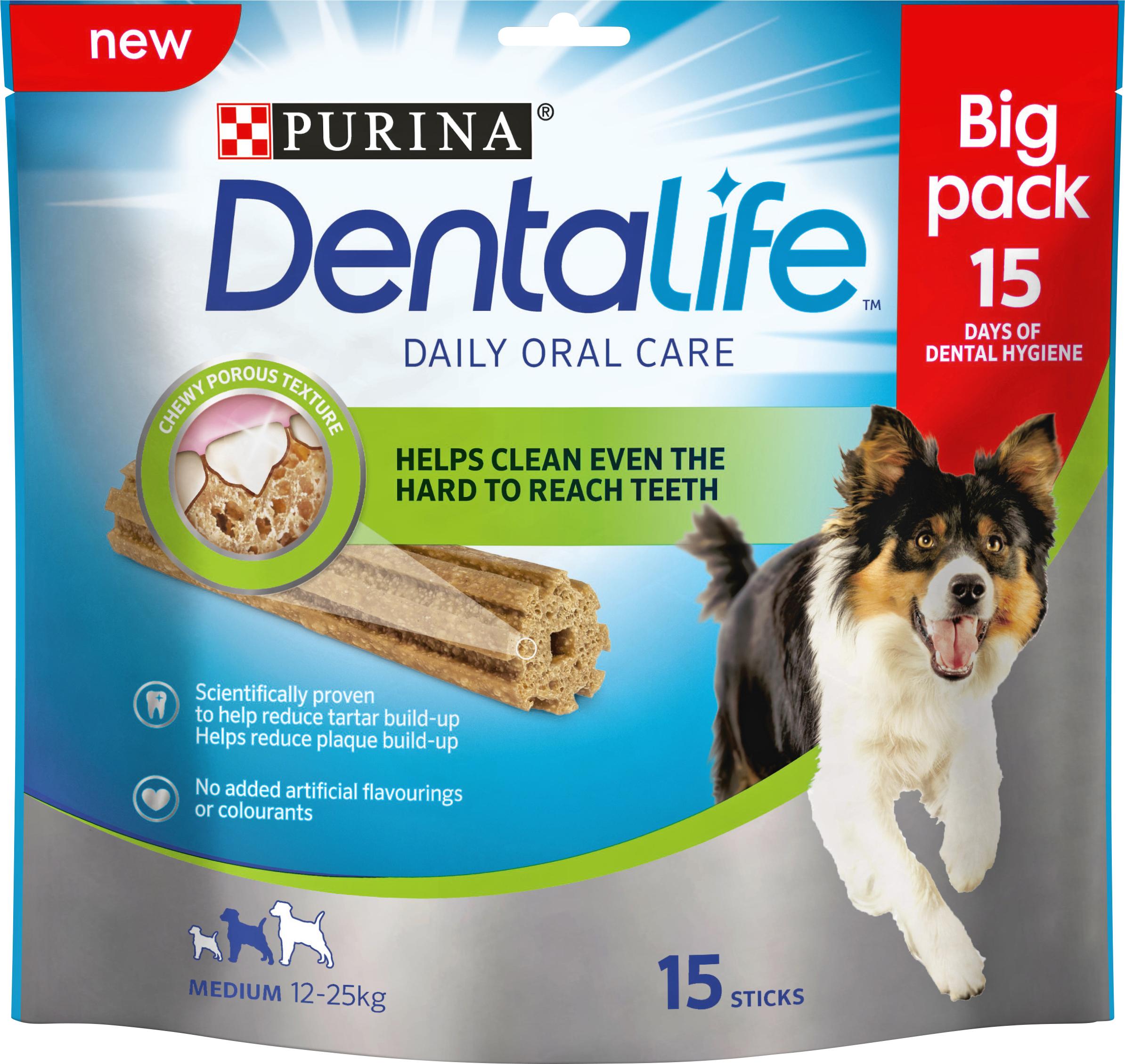 DentaLife tuggpinne Medium - 1 påse, 15 st tuggpinnar