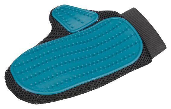 Pälsvårdsvante Blå - Blå Gummi