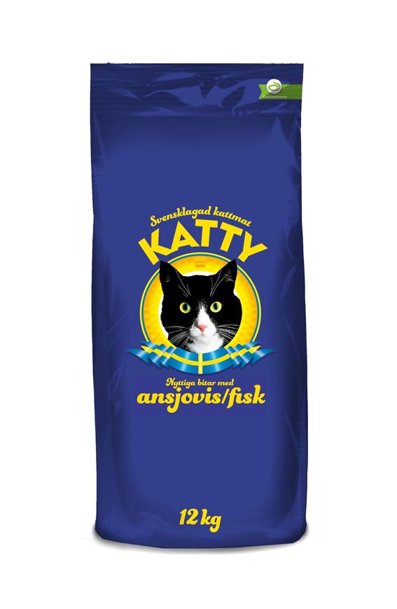 Ansjovis Torrfoder för katt - 12 kg