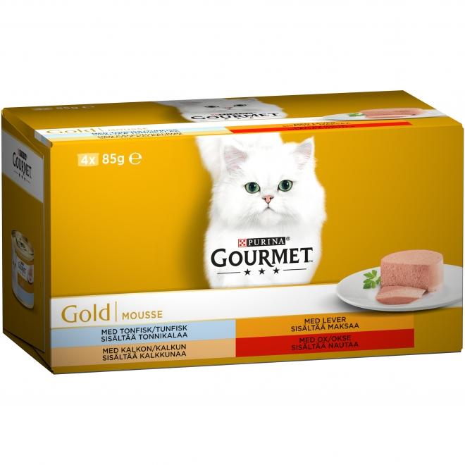 Våtfoder Mousse för katt 4-pack