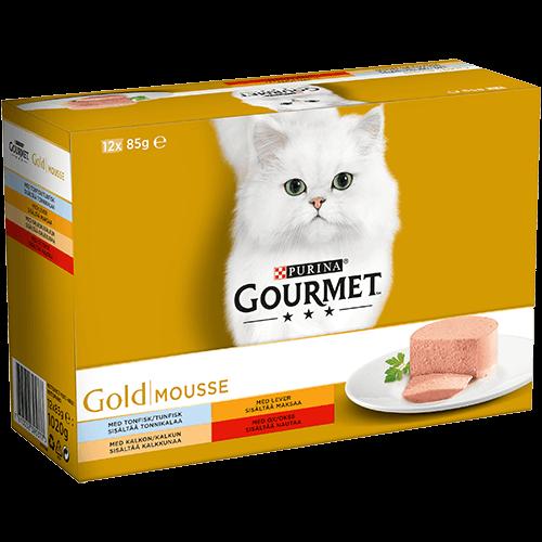 Våtfoder Mousse för katt 12-pack