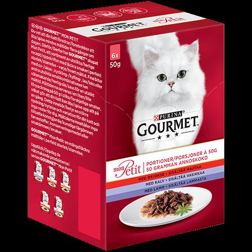 Våtfoder Mon Petit kött för katt